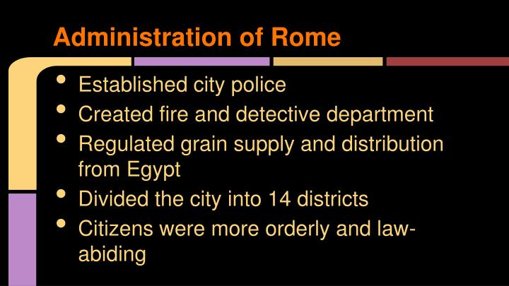 Administration of Rome