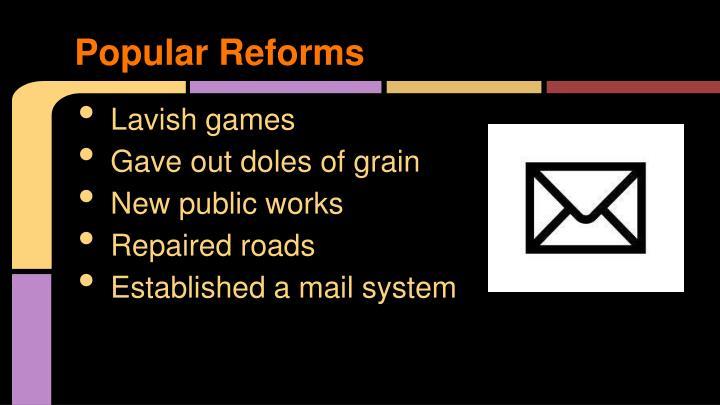 Popular Reforms