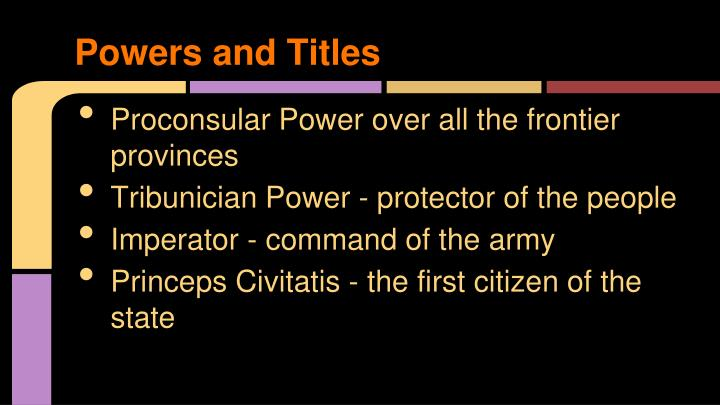 Powers and titles