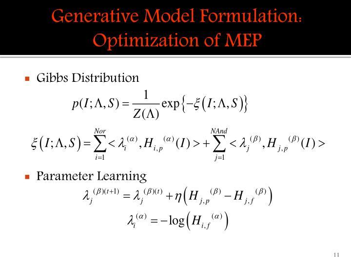 Generative Model Formulation: