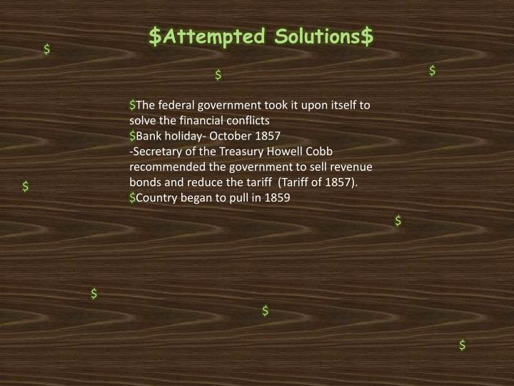 $Attempted Solutions$