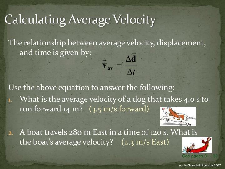 Calculating Average Velocity
