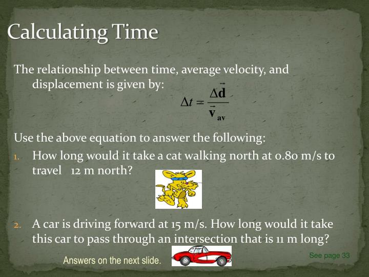 Calculating Time