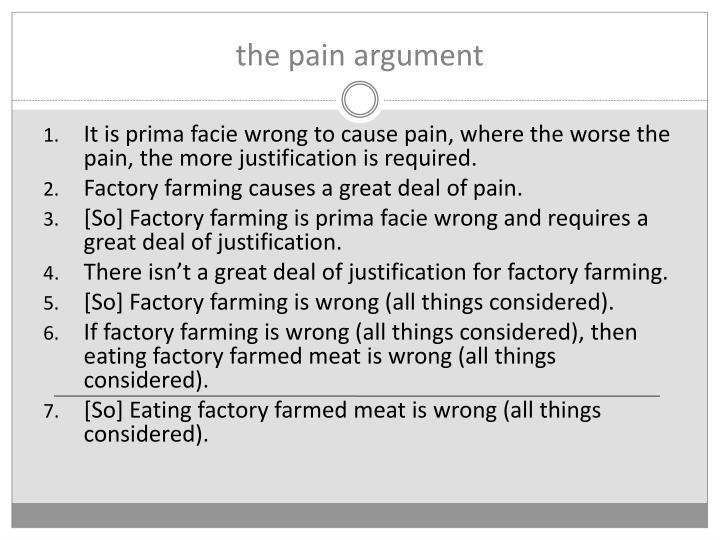 the pain argument