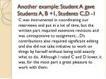 another example student a gave students a b 1 students c d 1