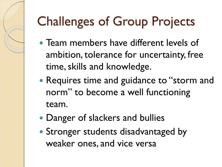 Challenges of group projects