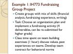 example 1 ih773 fundraising group project