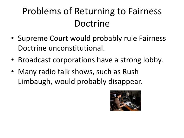 Problems of Returning to Fairness Doctrine