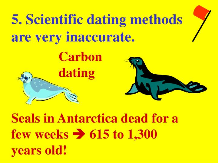5. Scientific dating methods are