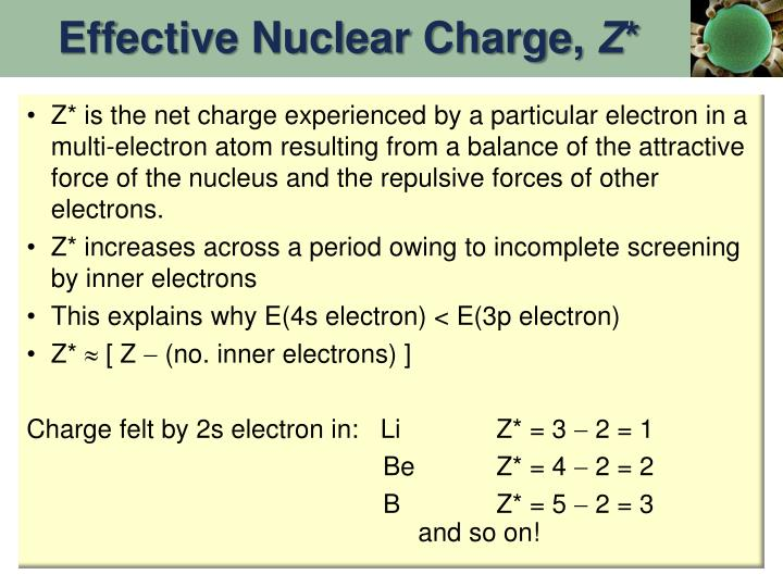 Effective Nuclear Charge,
