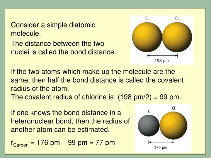 Consider a simple diatomic molecule.