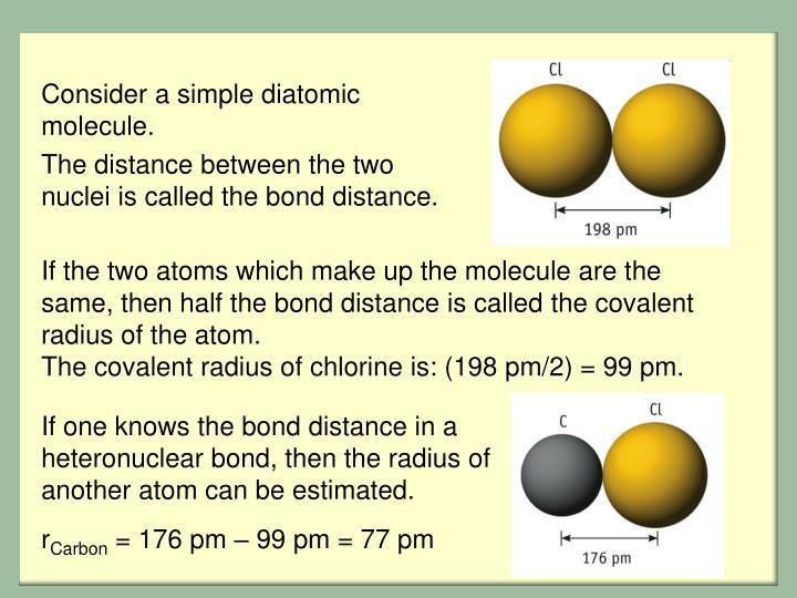Consider a simple diatomic molecule.