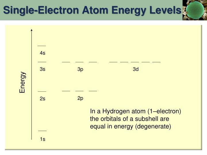 Single-Electron Atom Energy Levels