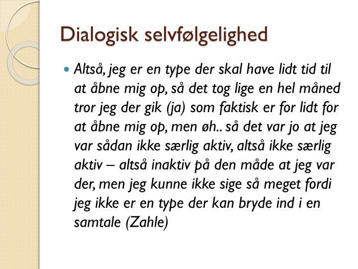 Dialogisk selvfølgelighed