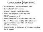 computation algorithms