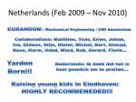 netherlands feb 2009 nov 2010
