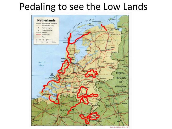 Pedaling to see the Low Lands