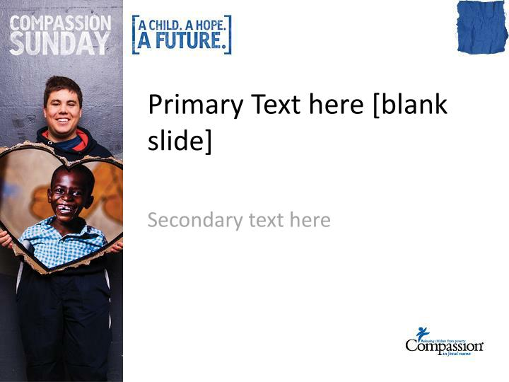 Primary Text here [blank slide]