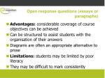 open response questions essays or paragraphs