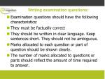 writing examination questions