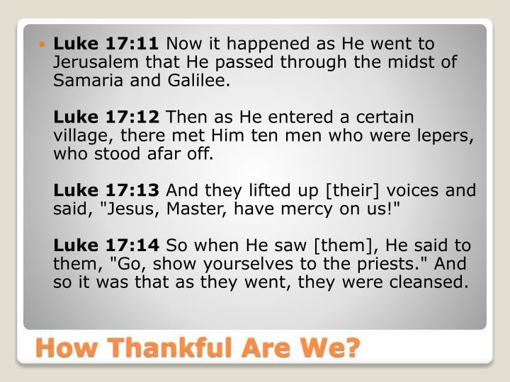 Luke 17:11