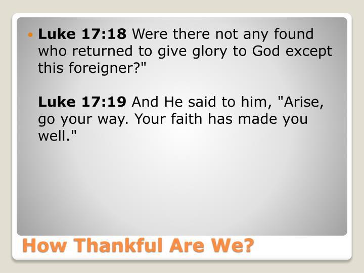 Luke 17:18