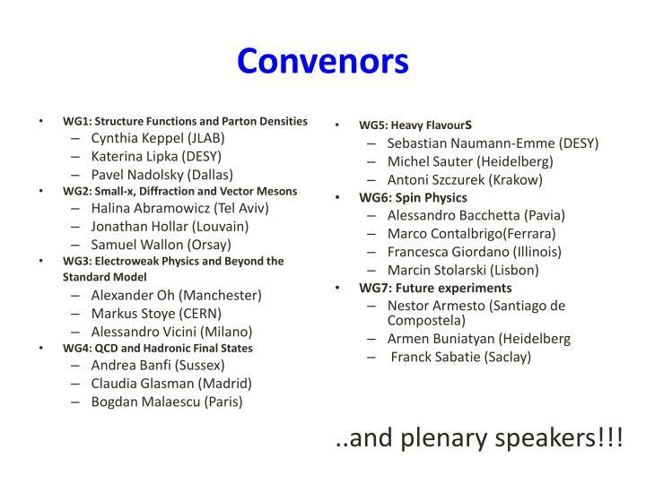 Convenors