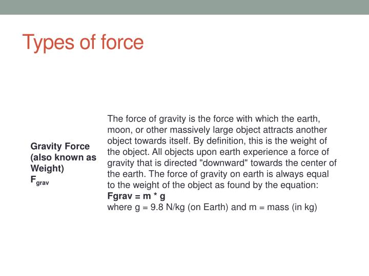 Types of force