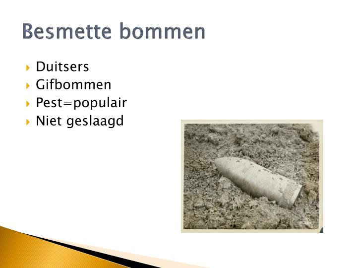 Besmette bommen