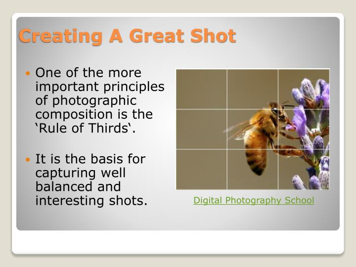 Creating A Great Shot
