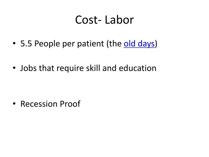 Cost- Labor