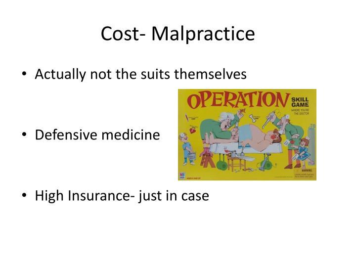 Cost- Malpractice