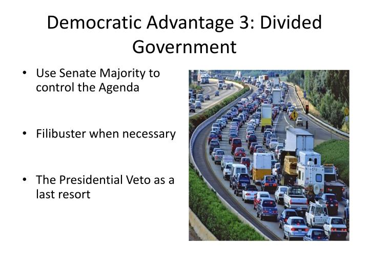 Democratic Advantage 3: Divided Government