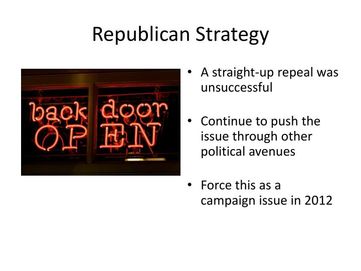 Republican Strategy