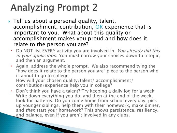 Analyzing Prompt 2