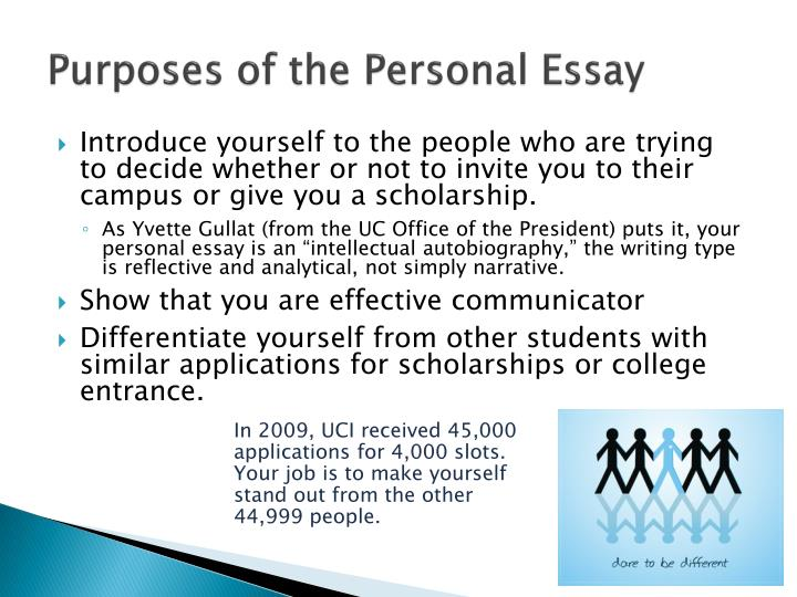 Purposes of the personal essay