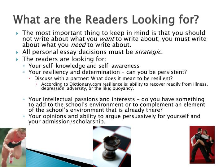 What are the Readers Looking for?