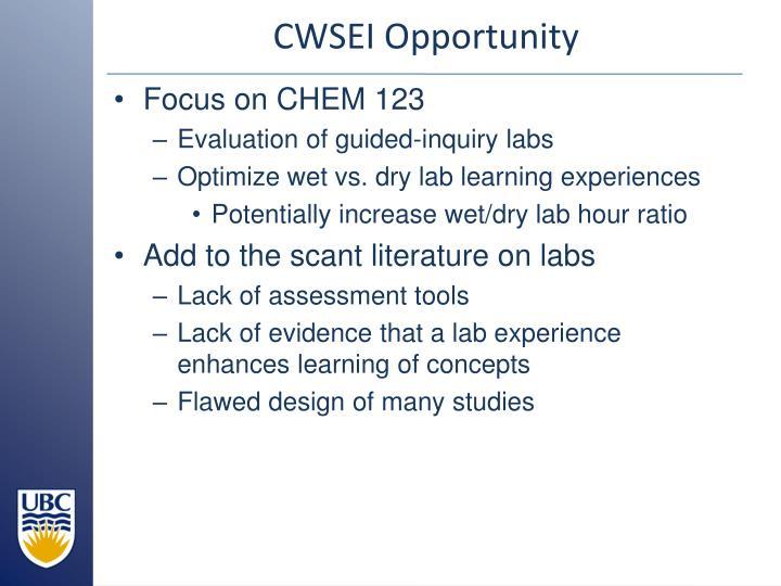 CWSEI Opportunity