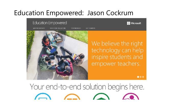 Education Empowered:  Jason Cockrum