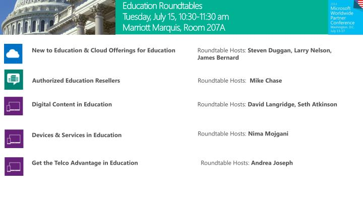 Education Roundtables