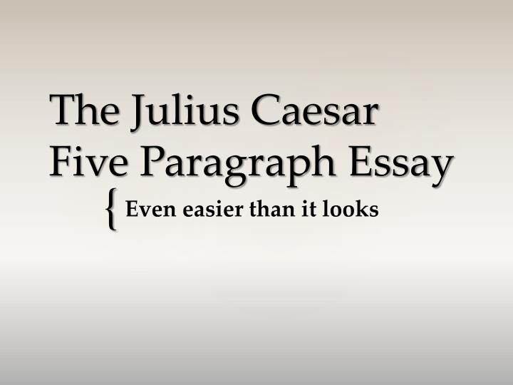 outline for julius caesar