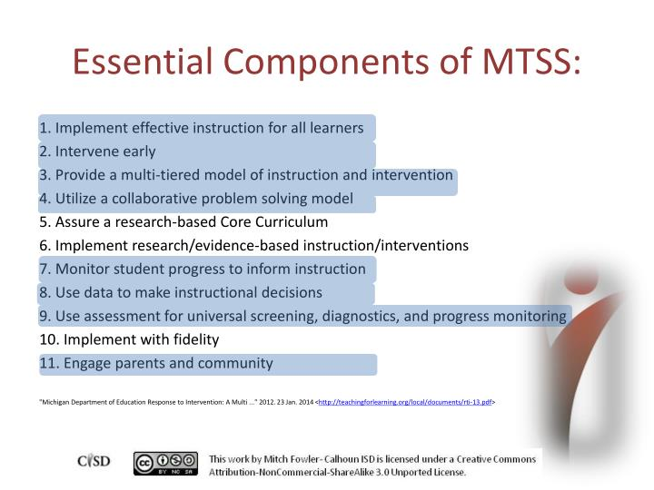 Essential Components of MTSS: