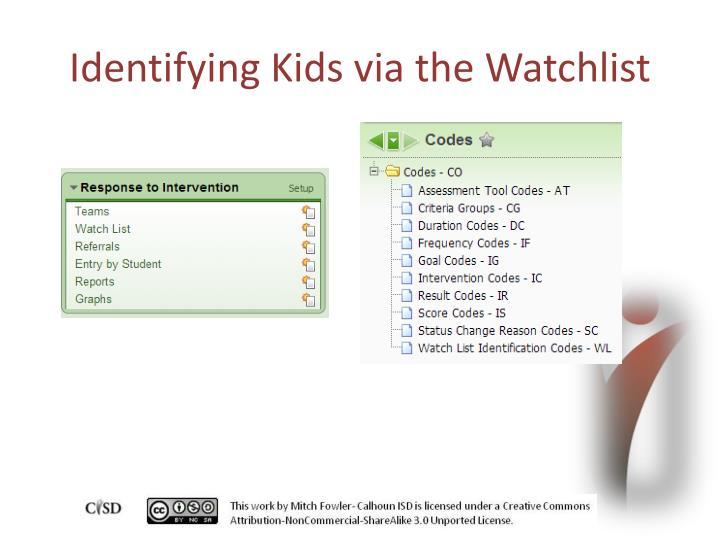 Identifying Kids via the