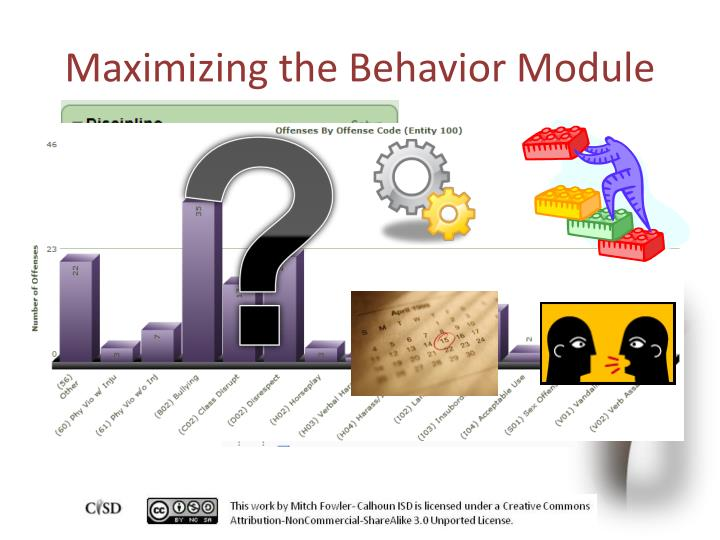 Maximizing the Behavior Module