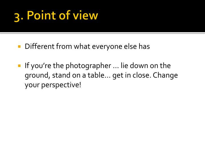 3. Point of view
