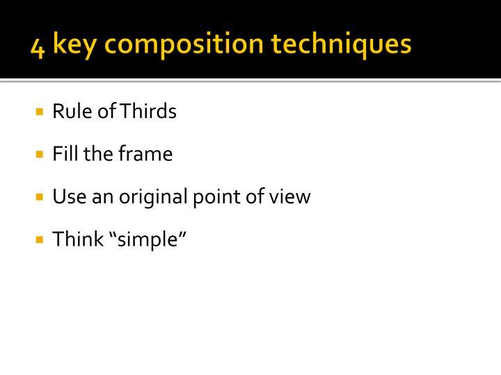 4 key composition techniques