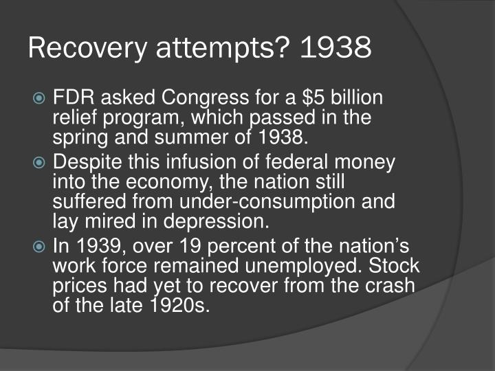 Recovery attempts? 1938