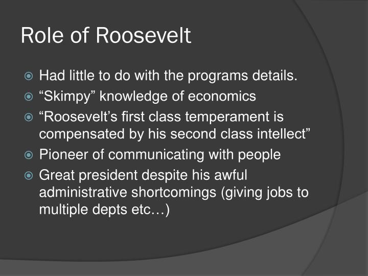 Role of Roosevelt