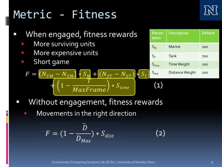 Metric - Fitness