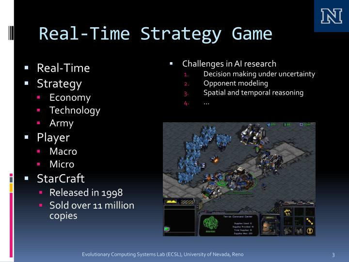 Real time strategy game